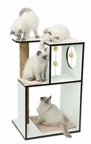 Arbre à Chat Vesper Boîte Blanc